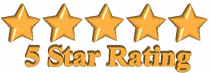 5 Star Rating - Grossbusters Carpet Cleaning